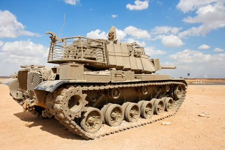 Old Israeli Magach tank near the military base in the desert  Stock Photo - 5903916