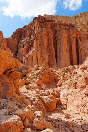 Majestic Amram pillars rocks in the desert near Eilat in Israel Stock Photo - 6038981