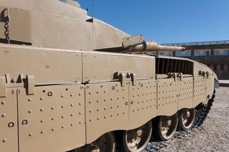 New Israeli Merkava Mark IV tank in Latrun Armored Corps museum Stock Photo - 6306220