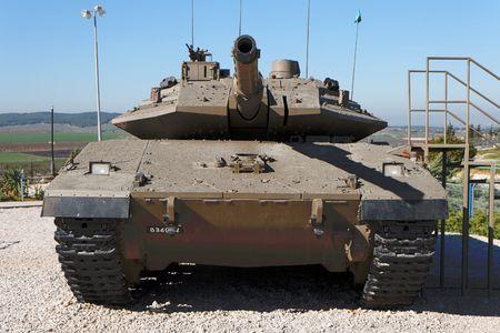 war tank: Nuevo tanque israel� en Museo  Foto de archivo