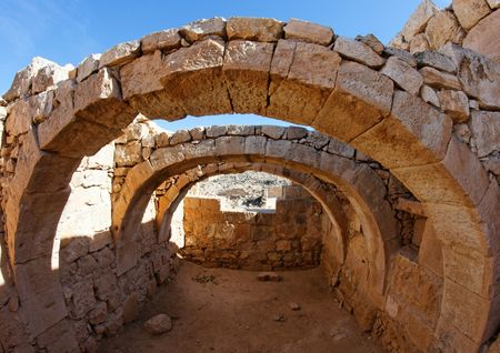 stone arches: Converging ancient stone arches