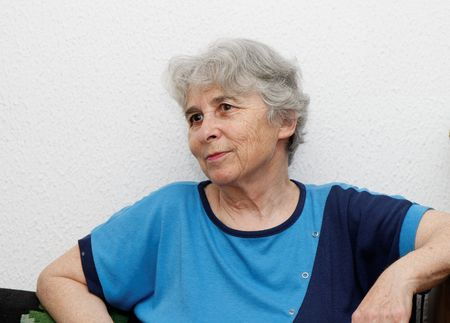 Relaxed elderly woman resting
