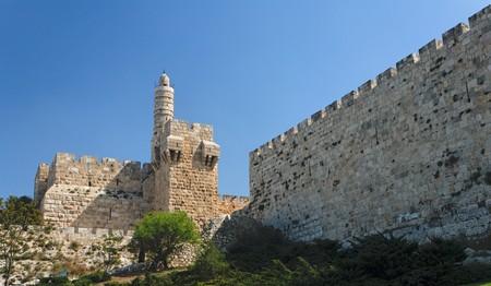 bollwerk: Alten Zitadelle und Tower of David in Jerusalem