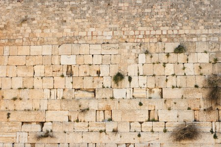 Wailing Wall (Western Wall) in Jerusalem texture  photo