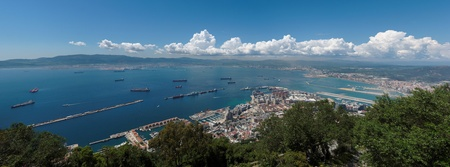 Gibraltar bay panorama