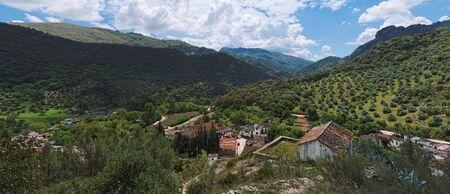 Village in mountain valley in Andalusia, Spain photo