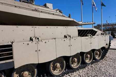 New Israeli Merkava Mark IV tank in Latrun Armored Corps museum