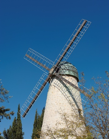 Monteriore Windmill in Jerusalem photo