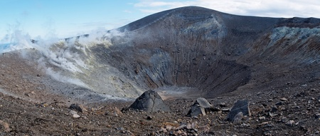 effusion: Grand (Fossa) crater of Vulcano island near Sicily, Italy