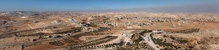 Arab villages in desert around Herodion near Bethlehem photo