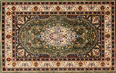 깔개: 꽃 패턴 아랍어 깔개 스톡 사진