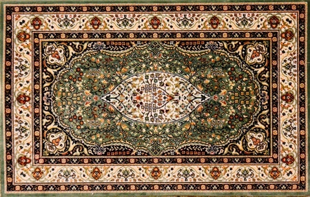 Arabic rug with floral pattern  photo