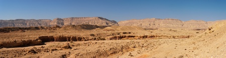 canyon negev: Scenic desert landscape in the Small Crater  Makhtesh Katan  in Israel