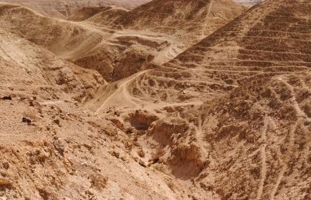 Textured orange dunes in the desert  photo