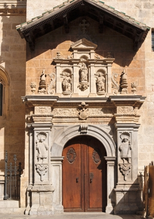 Side entrance to the cathedral of Granada, Spain
