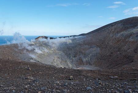 effusion: Grand (Fossa) crater of Vulcano island near Sicily, Italy