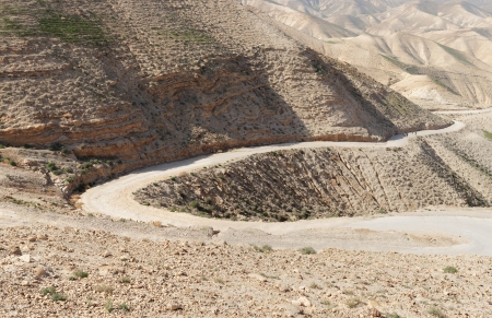 Winding road in the rocky desert