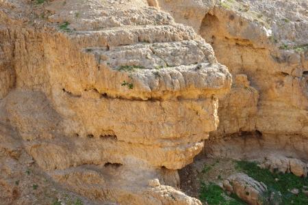 stratified: Scenic stratified orange rock on the cliff
