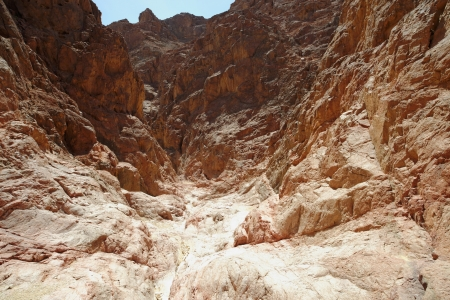 eilat: Scenic desert canyon near Eilat, Israel Stock Photo