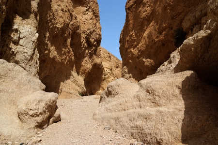 Orange desert canyon photo