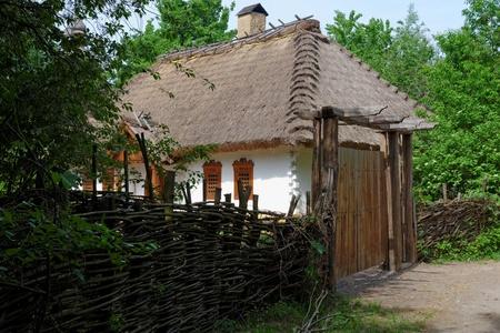 Farmer house in open air museum in Kiev, Ukraine