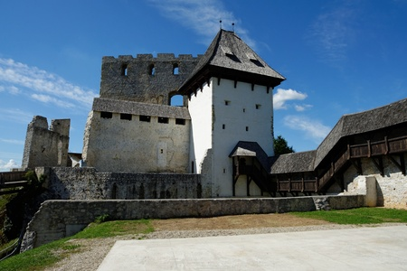 roofed house: Celje medieval castle in Slovenia