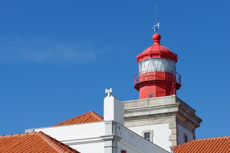 roca: Lighthouse top in Cabo Da Roca, Portugal. Cabo da Roca is the most westerly point of the Europe mainland