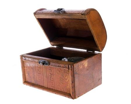 wood box isolated on a white background photo