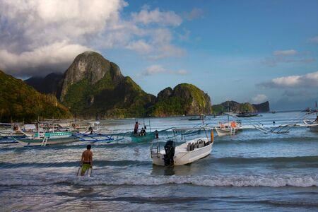palawan: Boats at El Nido, Palawan, Philippines