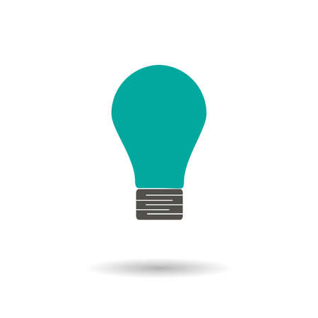 bulb isolated vector icon. light bulb filament design element