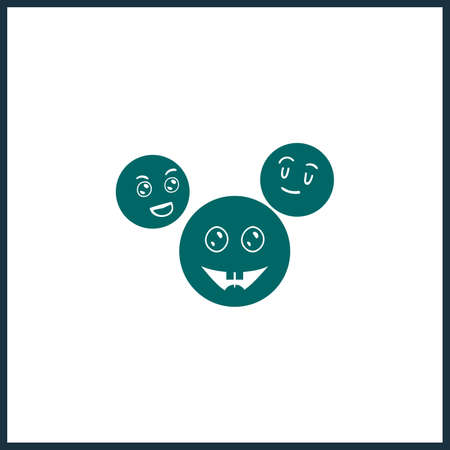 laughing emoji vector icon, emoji simple isolated icon