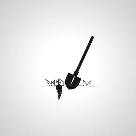 Shovel simple isolated vector icon. Mini Shovel simple isolated vector icon. Mini Shovel simple isolated vector icon.