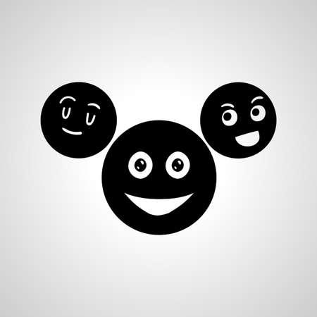 laughing emoji line icon, emoji simple isolated icon