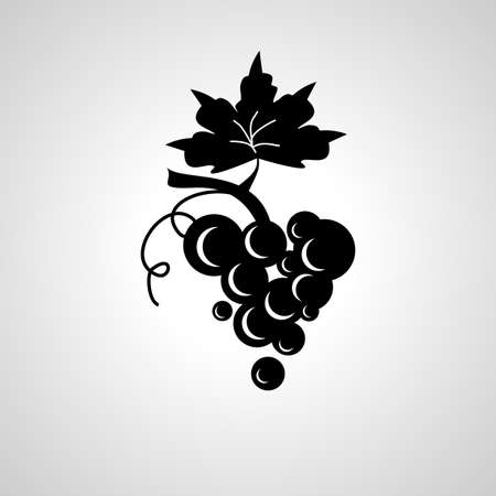 grapes fruit icon, grapes isolated simple icon