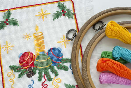 dms: christmas embroidery a cross