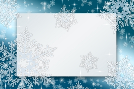 Frameworks for christmas cards with snowflakes and stars photo