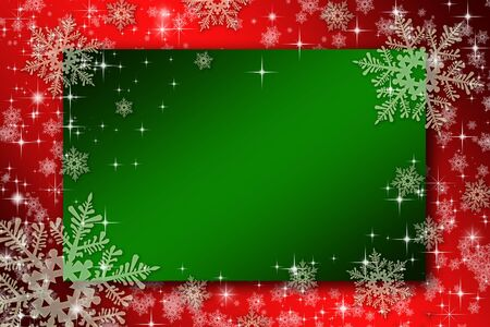 subtle background: Frameworks for christmas cards with snowflakes and stars