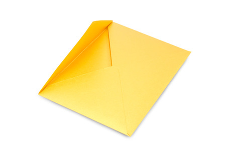 embedding: Blank yellow envelope for an important business letter