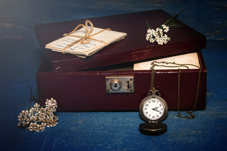 elapsed: Old things in still life Stock Photo