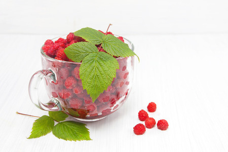 fragrant: Fragrant raspberry on rural breakfast Stock Photo