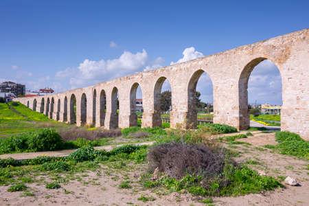 Aqueduct Kamares in Larnaca. Cyprus. Archivio Fotografico