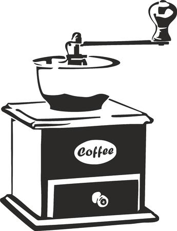 Vektor-Illustration von einer alten Kaffeemühle Vektorgrafik