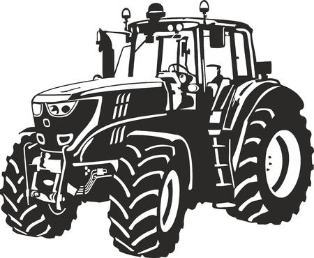 Illustrazione vettoriale di un trattore Vettoriali