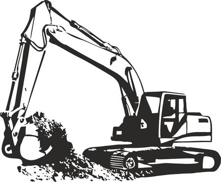 掘削機のベクトル イラスト