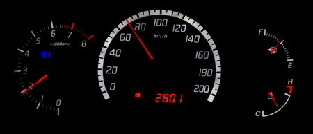 speedo, tacho, fuel gages and engine temp