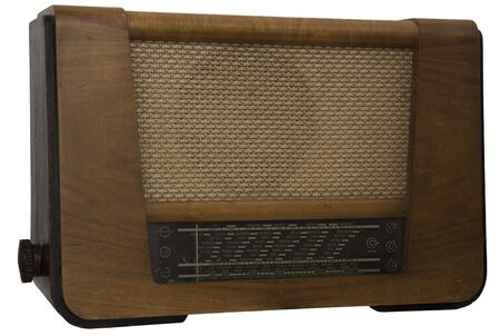 Old retro radio - isolated.