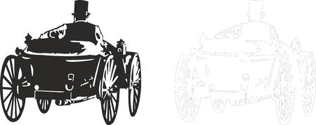 maschine: Vector illustration of an old car. Illustration