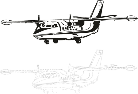 Vector illustration of an aircraft.
