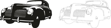 Vector illustration of an old car. Illustration