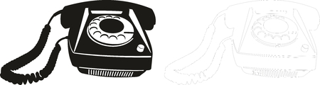 vector illustration of an old telephone